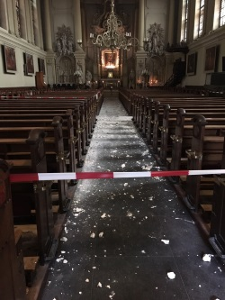 St. Augustine's church September 2016 accident's debris