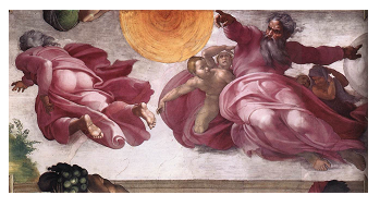 The creation of the sun Moon Plants Michelangelo Buonarroti